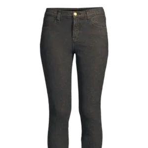 J BRAND Alana High-Rise Crop Metallic Skinny Jeans